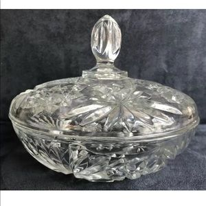 COPY - Vintage Cut Glass Candy Dish with Lid